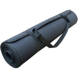 Yoga mat zwart met draagband
