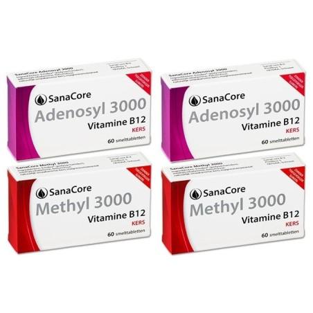 Vitamine B12 Plus Pakket Adenosyl & Methyl 3000