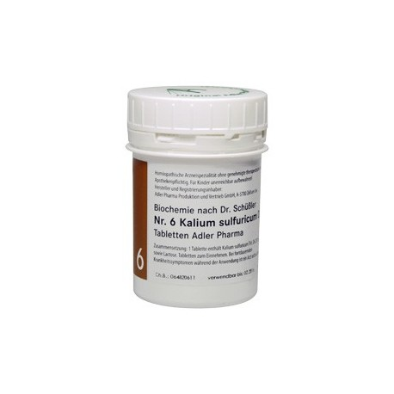 Celzouten nr 6 Adler Schussler zouten Kalium Sulfuricum