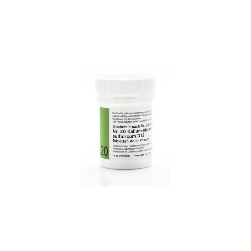 Celzouten nr 20 Adler Schussler zouten Kalium Aluminium Sulfuricum