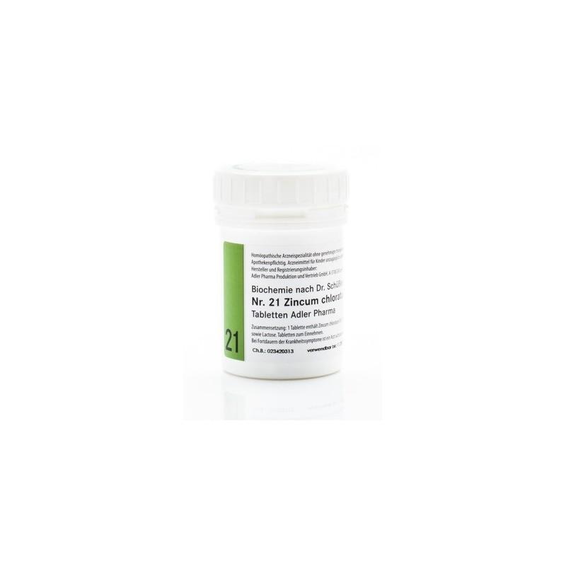Celzouten nr 21 Adler Schussler zouten Zincum Chloratum