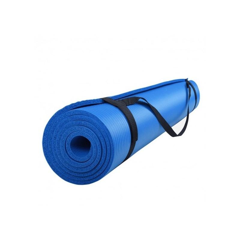 Yoga mat blauw extra zacht