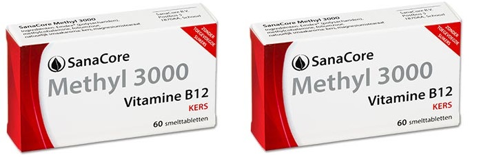 Sanacore Vitamine B12 Methyl 3000 Methylcobalaminee